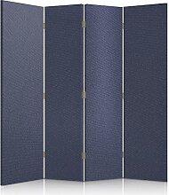 Feeby Frames. Textilwandschirme, dekorative Trennwand, Paravent beidseitig, 4 teilig (145x150 cm), STOFF, GLAMOURÖSE, MODERN, BLAUE JEANS