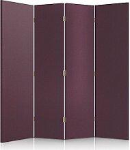 Feeby Frames. Textilwandschirme, dekorative Trennwand, Paravent einseitig, 4 teilig (145x150 cm), GEPOLSTERT, VIOLETT, MODERN, GLAMOUR, FÜR GARDEROBE