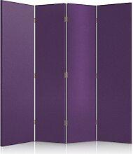 Feeby Frames. Textilwandschirme, dekorative Trennwand, Paravent einseitig, 4 teilig (145x150 cm), LILA, STOFF, GLAMOURÖSE, MODERN