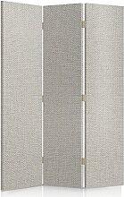 Feeby Frames. Textilwandschirme, dekorative Trennwand, Paravent beidseitig, 3 teilig (110x150 cm), GLAMOURÖSE, MODERN, BEIGE
