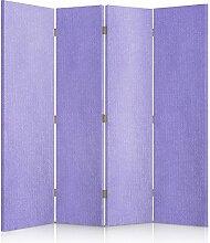 Feeby Frames. Textilwandschirme, dekorative Trennwand, Paravent einseitig, 4 teilig (145x180 cm), LAVENDEL, STOFF, GLAMOURÖSE, MODERN, VELOURSLEDERIMITAT