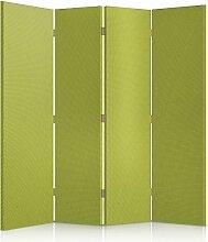 Feeby Frames. Textilwandschirme, dekorative Trennwand, Paravent einseitig, 4 teilig (145x150 cm), STOFF, GLAMOURÖSE, MODERN, SENF