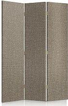 Feeby Frames. Textilwandschirme, dekorative Trennwand, Paravent beidseitig, 3 teilig (110x180 cm), STOFF, GLAMOURÖSE, MODERN, ELEFANT GRAU