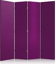 Feeby Frames. Textilwandschirme, dekorative Trennwand, Paravent einseitig, 4 teilig (145x180 cm), STOFF, GLAMOURÖSE, MODERN, ROSA, SAMT