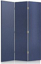 Feeby Frames. Textilwandschirme, dekorative Trennwand, Paravent beidseitig, 3 teilig (110x150 cm), INDIGO, STOFF, GLAMOURÖSE, MODERN
