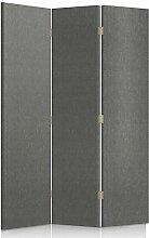 Feeby Frames. Textilwandschirme, dekorative Trennwand, Paravent einseitig, 3 teilig (110x180 cm), MODERN, GEPOLSTERT, MELANGEMUSTER, GRAFIT, FÜR SCHLAFZIMMER