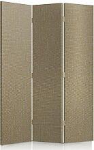 Feeby Frames. Textilwandschirme, dekorative Trennwand, Paravent einseitig, 3 teilig (110x150 cm), BEIGE, STOFF, GLAMOURÖSE, MODERN