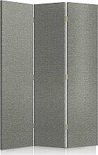 Feeby Frames. Textilwandschirme, dekorative Trennwand, Paravent einseitig, 3 teilig (110x180 cm), GEPOLSTERT, MELANGEMUSTER, GRAU, MODERN, FÜR SCHLAFZIMMER