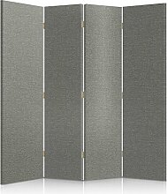 Feeby Frames. Textilwandschirme, dekorative Trennwand, Paravent einseitig, 4 teilig (145x180 cm), GEPOLSTERT, MELANGEMUSTER, GRAU, MODERN, FÜR SCHLAFZIMMER