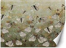 Feeby Papier Fototapete Textur Schmetterlinge