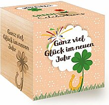 Feel Green Celebrations Ecocube, Glücksklee,
