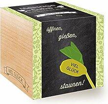 Feel Green Message Cube, Holzwürfel Mit