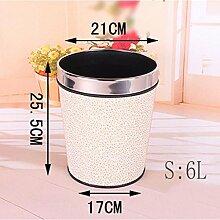 FEELFUL Trash, europäischen Stil Mülleimer, Home kreative Mülleimer, Wohnzimmer Hotel Küche und WC Trash, Large Office Trash ( Farbe : G )