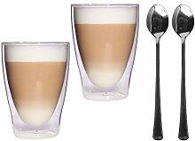 Feelino 2x 300ml XL doppelwandige Latte Macchiato