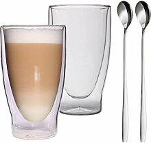 Feelino Aktion: 2X 400ml XXL doppelwandige Latte