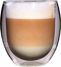 Feelino Glas doppelwandig für Tee und Kaffee,