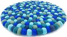 feelz Filzuntersetzer rund 22cm blau türkis
