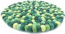 feelz Filzuntersetzer rund 22cm grün Handarbeit