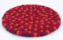 feelz Filzuntersetzer rund 22cm rot orange