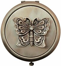 Fei Gifts Pewter Butterfly Compact Mirror by Fei