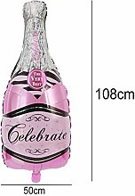 FEIDA Ballons Champagnerflasche Glasfolie