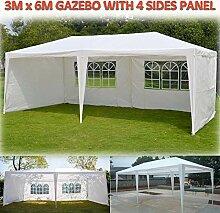 Feidak Gartenpavillon mit 4 Seitenteilen,