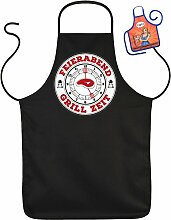 FEIERABEND Grill Zeit - Fun Schürze - mit kleiner Mini-Schürze als Präsen