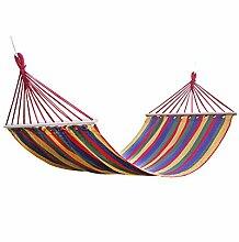 FEIFEI Bunched Cotton Canvas Hängematte Erhöht Single Outdoor Erholung Indoor Balkon Adult Swing Hängematte ( Farbe : 5 )