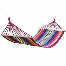 FEIFEI Bunched Cotton Canvas Hängematte Erhöht Single Outdoor Erholung Indoor Balkon Adult Swing Hängematte ( Farbe : 3 )
