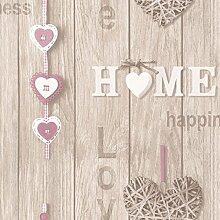 Feine Dekor lieben Ihre Heimat Tapete - lila