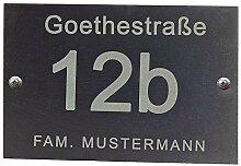Feiner-Tropfen 30x20cm Hausnummer Schiefer