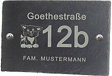 Feiner-Tropfen Hausnummer anthrazit Schild 30x20