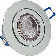 Feinlux® 3er Set IP44 LED Einbaustrahler Chrom