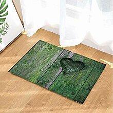 FEIYANG Badeteppiche des Valentinstags grüne