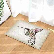 FEIYANG Farbige Vogeldekoration Bad Teppich