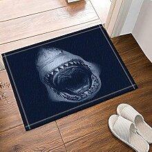 FEIYANG Meerestier Dekor Weißer Hai Bad Teppiche