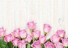 FEIYANG Pflanzendekoration Plank rosa Rose frisch