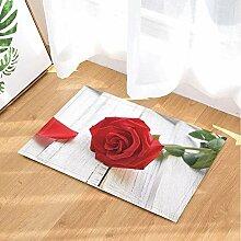 FEIYANG Valentinstag Bad Teppiche von roten Rose