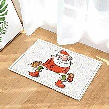 FEIYANG Weihnachten Bad teppiche Cartoon lustige