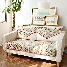 FEIZIModische amerikanische sofa-matte,stoff sitzkissen,four seasons anti-slip sofa handtuch cover,kissen-C 70x70cm(28x28inch)