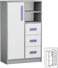 Feldmann-Wohnen Kommode GIT, Griffe in Violett
