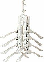 feleph Multifunktions-Kleiderbügel platzsparend Kleiderbügel, mehrschichtige Racks Magic Kleiderbügel, können Einmal aired-dry 8Stück (weiß)