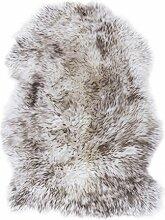Fell-Teppich echtes Schaffell Natur Wolfsfell