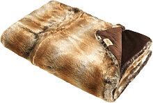 FELLDECKE 150/200 cm Braun