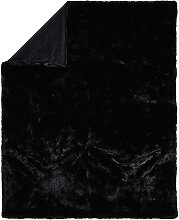 FELLDECKE 150/200 cm Schwarz
