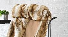 Felldecke braun, 150x200 cm