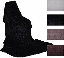 Felldecke Stone Design 150x200cm Auswahl: schwarz
