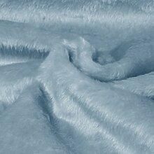 Fellimitat | 150 cm Breit | Meterware | Plüsch | Webpelz | Kunstfell (Babyblau) S2