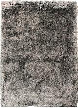 FELLTEPPICH 80/150 cm Grau, Silberfarben