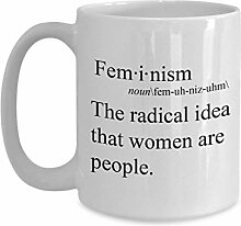Feministischer Kaffeetasse – The radical idea